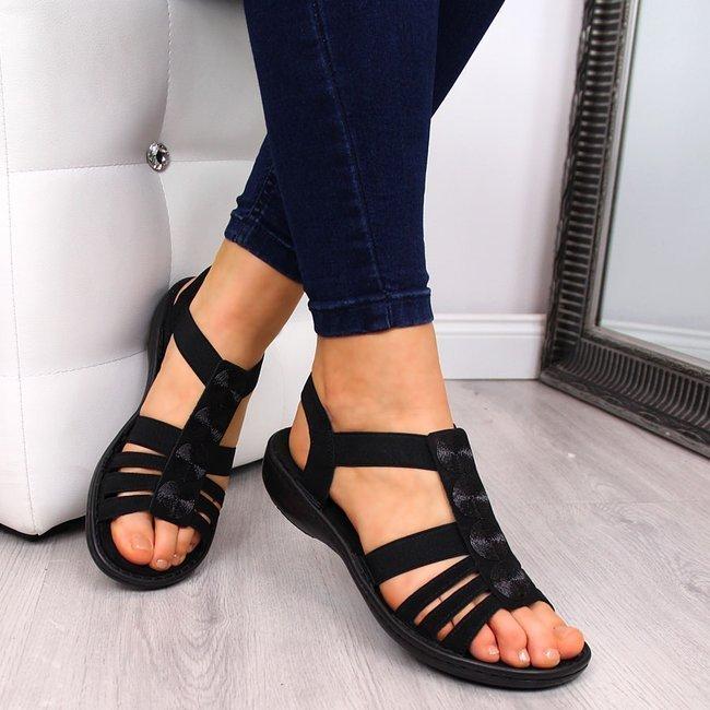 Sandały damskie czarne Rieker 60870