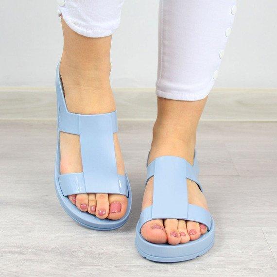 Sandały damskie gumowe niebieskie ZAXY Ever