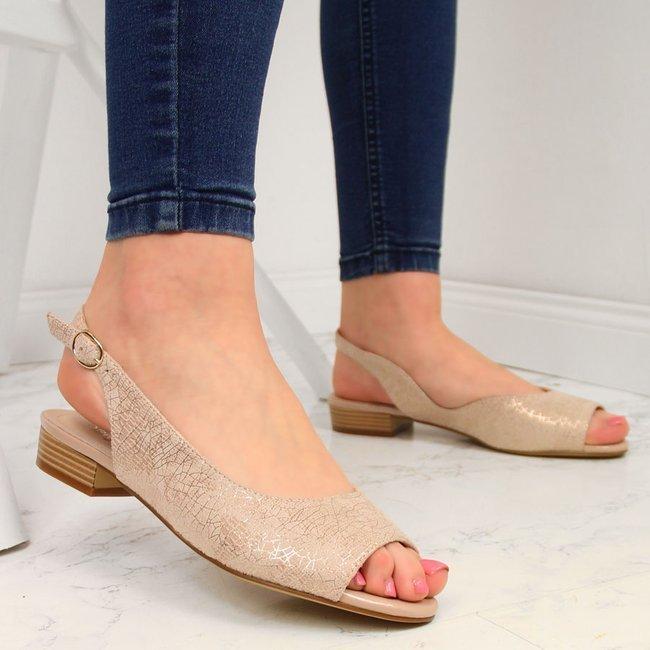 Sandały damskie pudrowy róż Sergio Leone