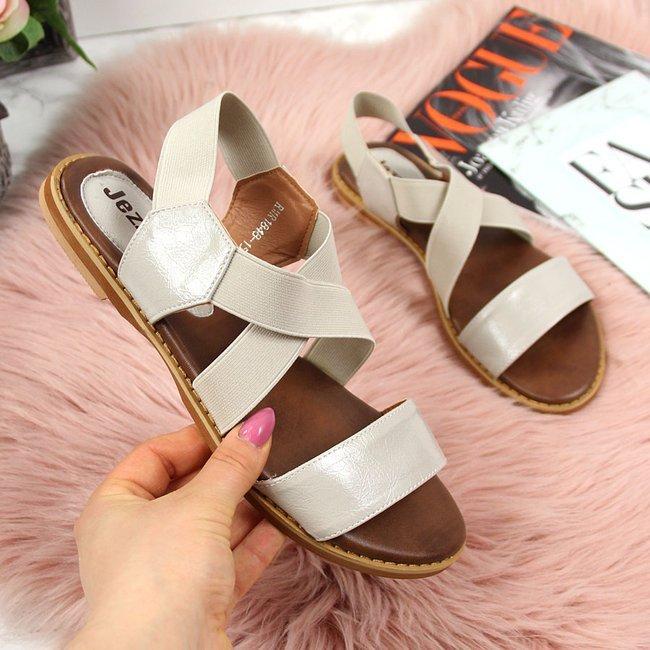 Sandały damskie rzymianki na gumy szare Jezzi