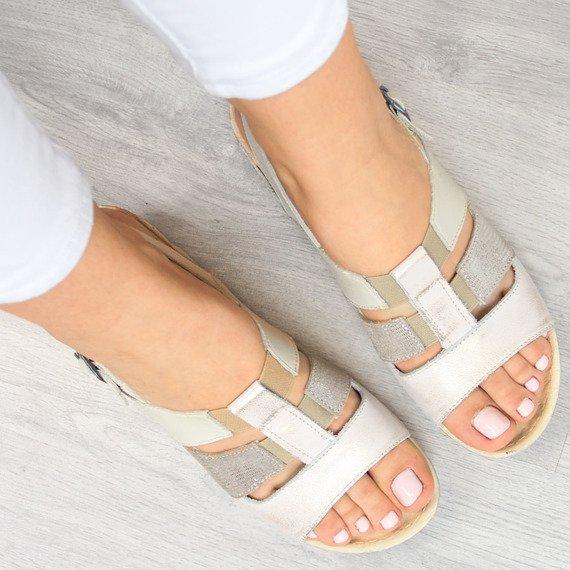 Sandały damskie skórzane komfortowe Łukbut 1102