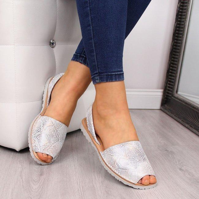 Sandały damskie skórzane wężowe El Pimpi