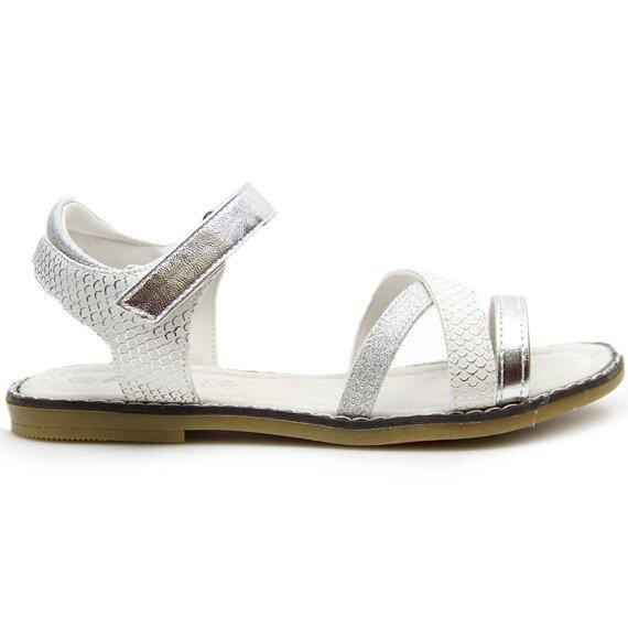 Sandały dziewczęce białe American Club
