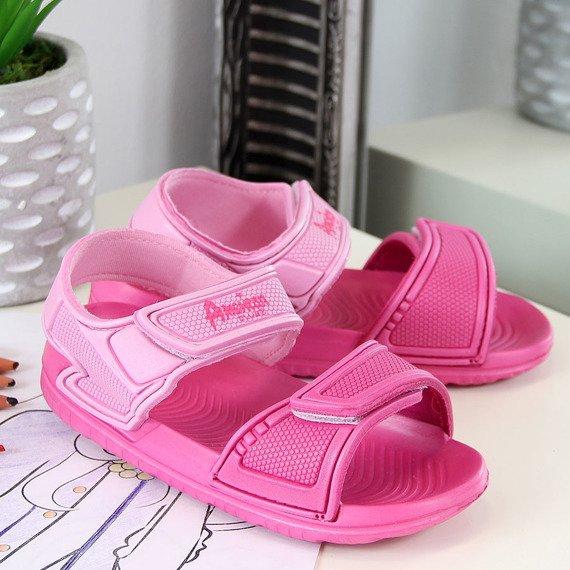 Sandały dziewczece piankowe różowe American Club