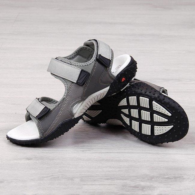Sandały sportowe na rzepy szare American Club