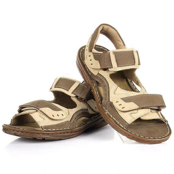 Skórzane sandały męskie lekkie komfortowe RAFADO 194