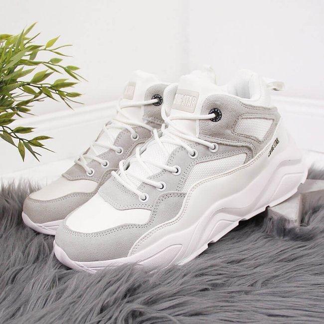 Sneakersy damskie na platformie białe Big Star GG274643