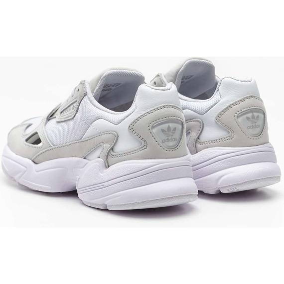 Sneakersy skórzane białe Adidas Falcon W B28128