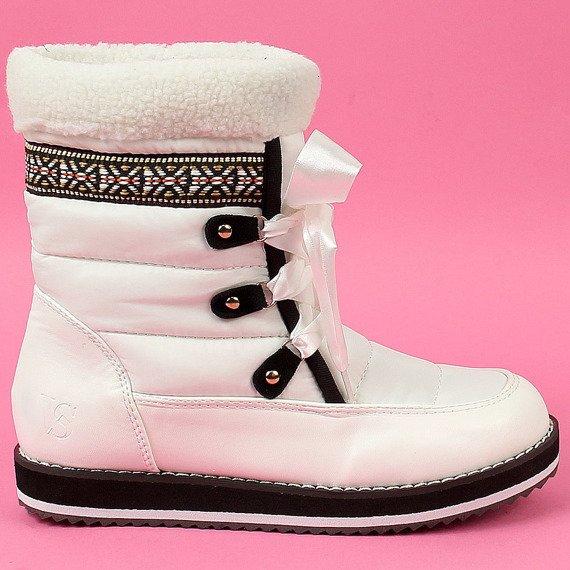 Śniegowce damskie białe Vices