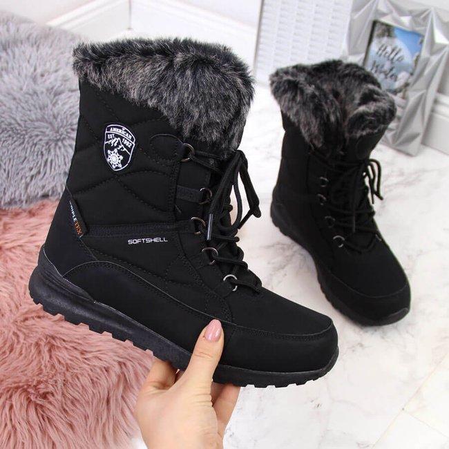 Śniegowce damskie wodoodporne czarne American Club