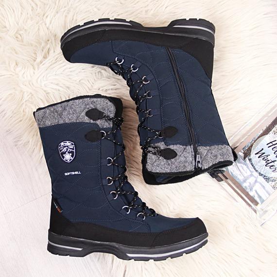 Śniegowce damskie wodoodporne zimowe granatowe American Club