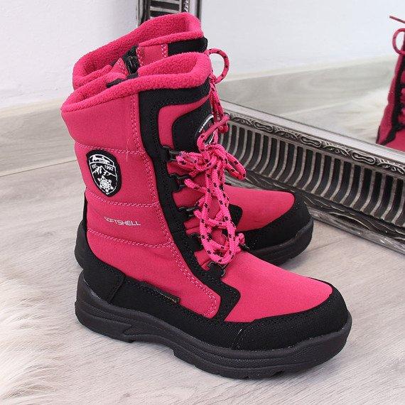 Śniegowce dziecięce wodoodporne zimowe różowe American Club