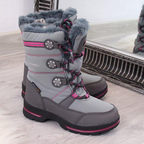 Śniegowce dziecięce wodoodporne zimowe szare American Club