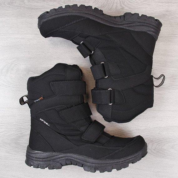 Śniegowce męskie wodoodporne trekkingowe czarne American Club