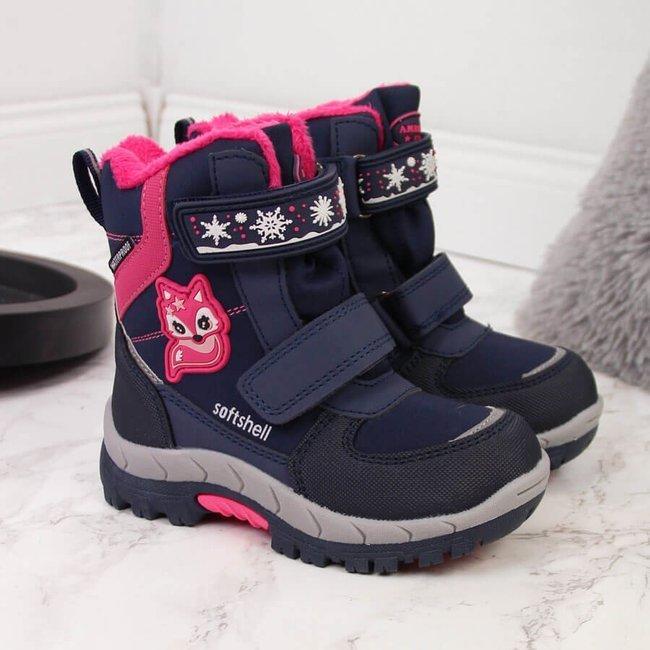 Śniegowce wodoodporne dziewczęce granatowe American Club
