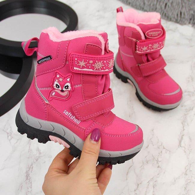 Śniegowce wodoodporne dziewczęce różowe American Club