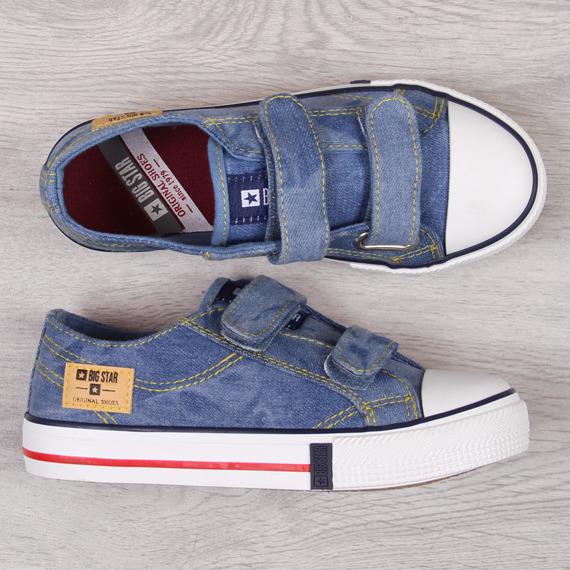 Trampki dziecięce na rzep jeansowe Big Star DD374133