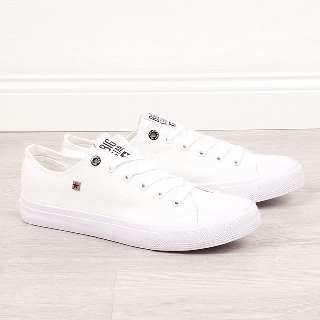 Trampki męskie całe białe Big Star AA174010
