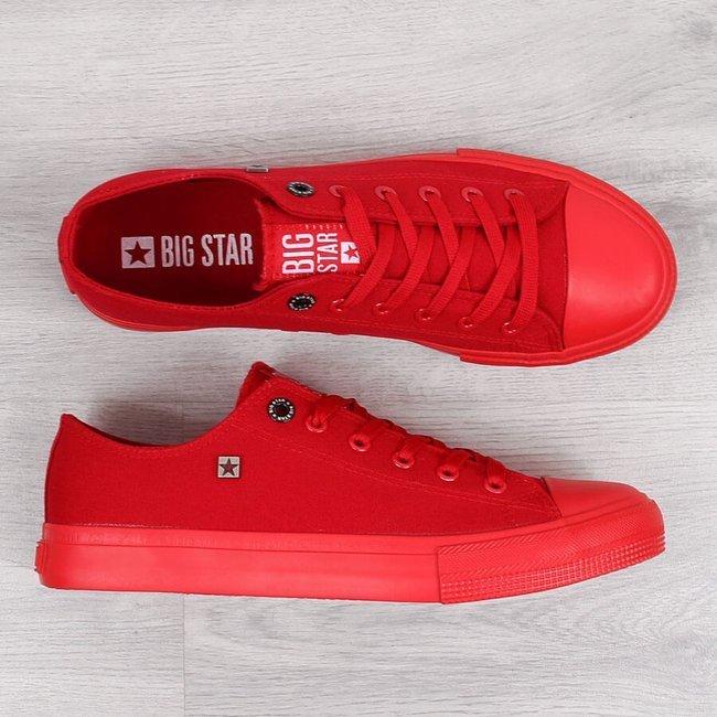 Trampki męskie całe czerwone Big Star AA174007