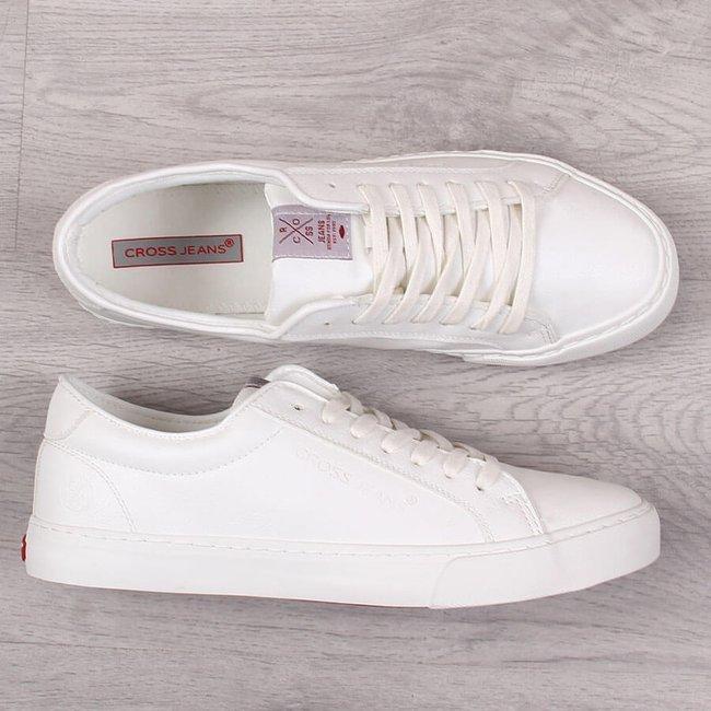 Trampki męskie eko skóra białe Cross Jeans FF1R4035C
