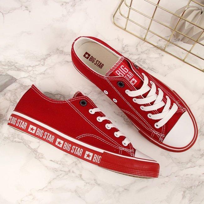 Trampki niskie tekstylne czerwone Big Star FF274236