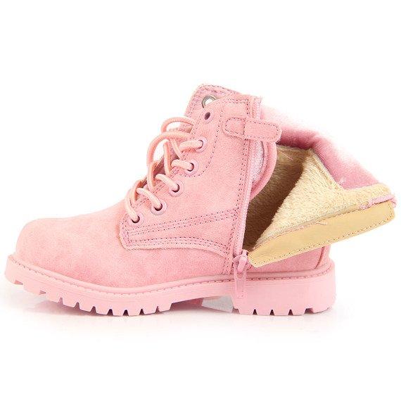 Trapery dziewczęce ocieplane różowe American Club