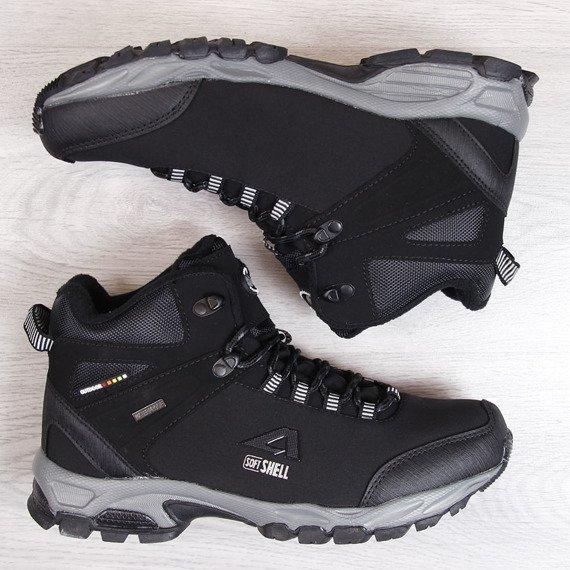 Trapery trekkingowe wodoodporne zimowe czarne American Club