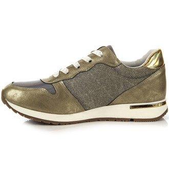 Złote sneakersy holograficzne Fabulous Fabs